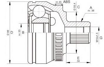 CVJ16115                                  - A4-00-09;A6 97-05                                  - CV Joint                                 ....208010