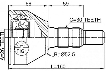CVJ12413                                  - []   11-16                                  - CV Joint                                 ....206969