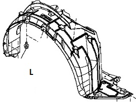 INF89912(L)                                 - [HR12DE] MARCH K13 10-                                 - Inner Fender                                 ....205597