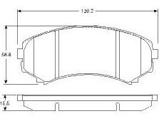 BKD18557(B)                                 - PAJERO MONTERRO 97                                 - Brake Pad                                 ....104572