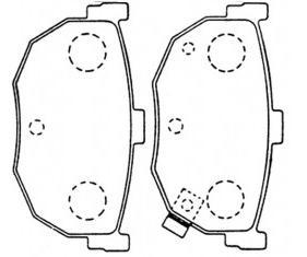 BKD18698(OEM)                                 - ELANTRA 94-00,CERATO 09/MAXIMA 88-94,SPECTRA 06-08                                 - Brake Pad                                 ....104649