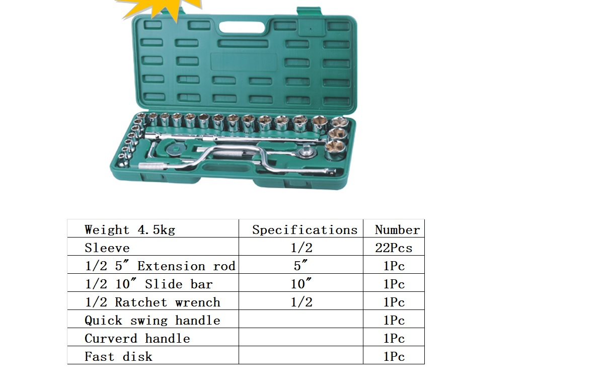 TOO26568                                  - 28 PCS SET (SOCKET WRENCHES FOR TYRES)[MATERIAL:ACERO AL CROMO VANADIO]                                  - Tool                                 ....110567