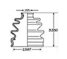 CVB29269(NBR)                                  - OUTER METRO 95-01                                  - CV Joint Boot                                 ....111611