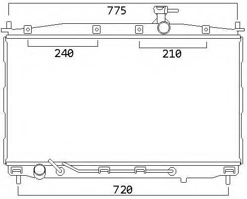 RAD29398(26MM) - SANTA FE  06- CRD1 [RECOMMEND THICKER RADIATOR 26MMFOR DIESEL ENGINE]...185252