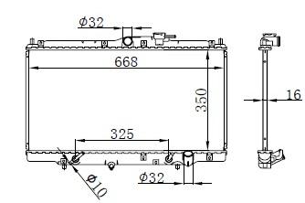 RAD30567(16MM) - ACCORD VII CG/F20B5 2.0 1998-2003 AT[W/O EXTRA 2 BRACKET] H=350...137330