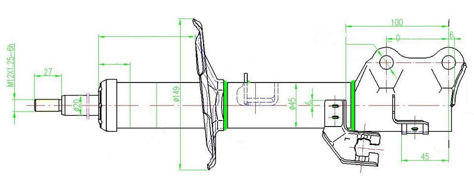 SHA34768(L)                                 - TIIDA 04-09,CUBE 2009-2012 [USA]                                 - Shock Absorber/Strut                                 ....115119