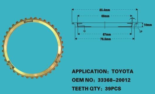 SYR37543                                  - LANDCRUISER 40 60 75 ,HILUX HZJ75 DYNA BU30 18R SYNCHRONIZER RING 3RD & 4TH                                  - Synchronizer Ring                                 ....117278