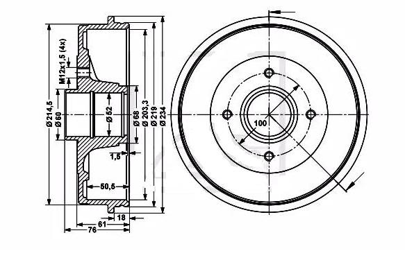 BRD42056                                 - MICRA K12 02-                                 - Brake Drum                                 ....196331