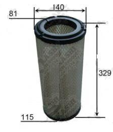 AIF42237                                  - H=320/329 OD=140 ID=1/115                                  - Air Filter                                 ....133336