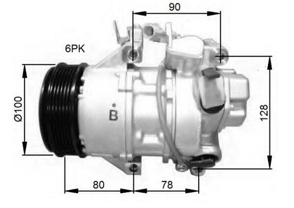 ACC44520(RE)                                  - AXIO NZE141 ,YARIS 2015 ,COROLLA 2014                                  - A/C Compressor                                 ....193304