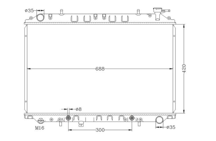 RAD45874(16MM)                                 - VANETTE KVC23  95-01                                 - Radiator                                 ....138857