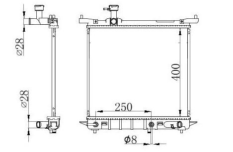 RAD49933(16MM)                                 - MARCH 2011 1.2I A/T                                 - Radiator                                 ....144516