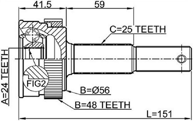 CVJ55534                                 - X-TRAIL T31 07-13,X-TRAIL T32 14-,QASHQAI J10E 06-13,QASHQAI J10E 2WD 06-13[24X48X25]                                 - CV Joint                                 ....157141