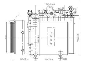 ACC58619                                  - ECLIPSE 96-99                                  - A/C Compressor                                 ....192453