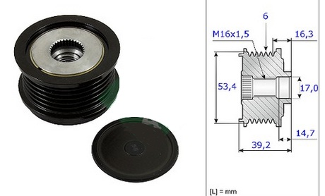ALP59868                                  - ESCAPE/KUGA 2013- DMII                                  - Alt. Pulley                                 ....157423