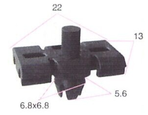 BUC61427                                  -                                   - Bumper/fender Clip                                 ....159559