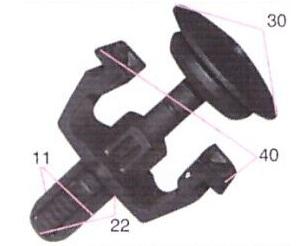BUC61429                                  -                                   - Bumper/fender Clip                                 ....159561