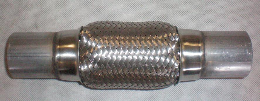 EXP66298(DOUBLE)                                  - 2X4 INCH W/ EXT [TOTAL L=4 INCH] DOUBLE BRAIDED                                  - Exhaust Flex Pipe                                 ....165913