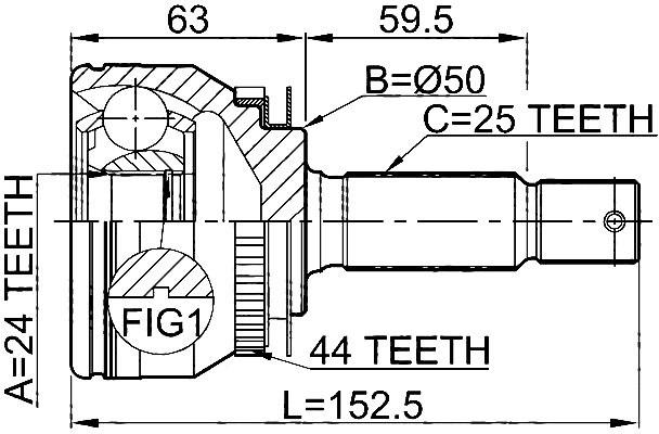 CVJ66412                                 - SPECTRA CERATO 2004-2009                                 - CV Joint                                 ....166060