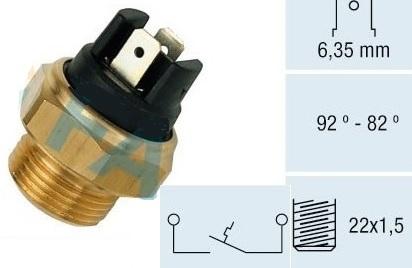 RFS67105                                  - 127 71-86,124 66-75                                  - Radiator Fan Switch                                 ....166908