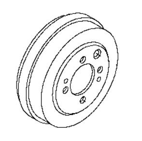 BRD68131                                 - NV200 2015-M20  HR16DE  JAPAN                                  - Brake Drum                                 ....168101