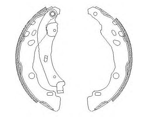 BKS71072                                 - C4 14-,MICRA 10-,NOTE 08-,CLIO II 98-06,CLIO IV 12-,LOGAN 04-                                 - Brake Shoe                                 ....171983
