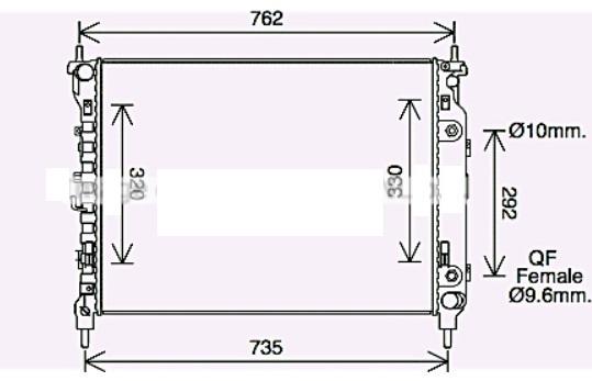 RAD72736(32MM)                                  - CAPTIVA 11-                                  - Radiator                                 ....173994