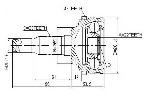 CVJ75029                                  - OPTRA 03-10                                  - CV Joint                                 ....176898