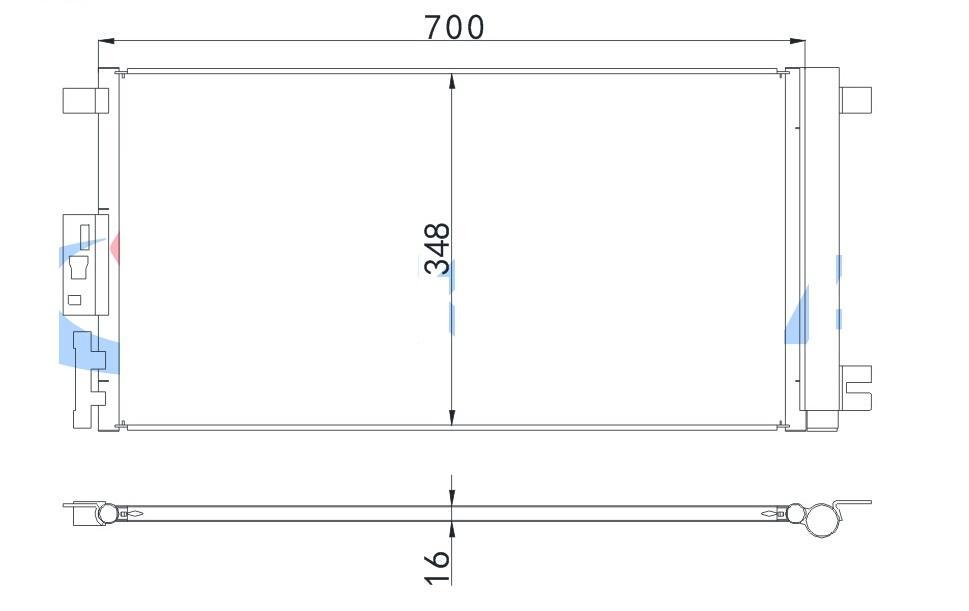 ACD78449(16MM)                                  - MALIBU 04-12,PONTIAC 05-10                                  - Condenser                                 ....181406